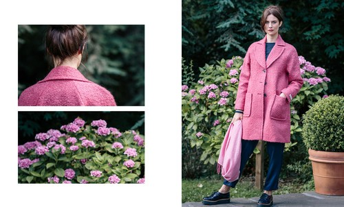 Hills Raglan Coat in Raspberry