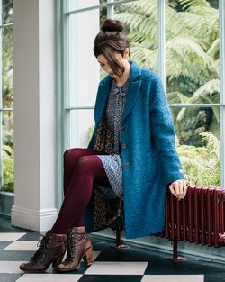Hills Raglan Coat in Teal