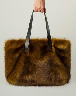 Faux Fur Kersey Bag in Olive