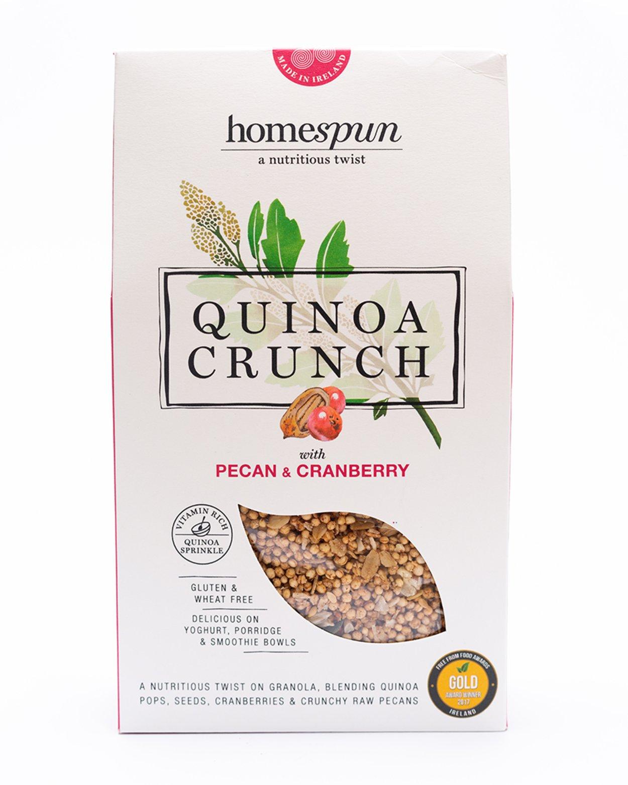 Homespun Pecan & Cranberry Quinoa Crunch