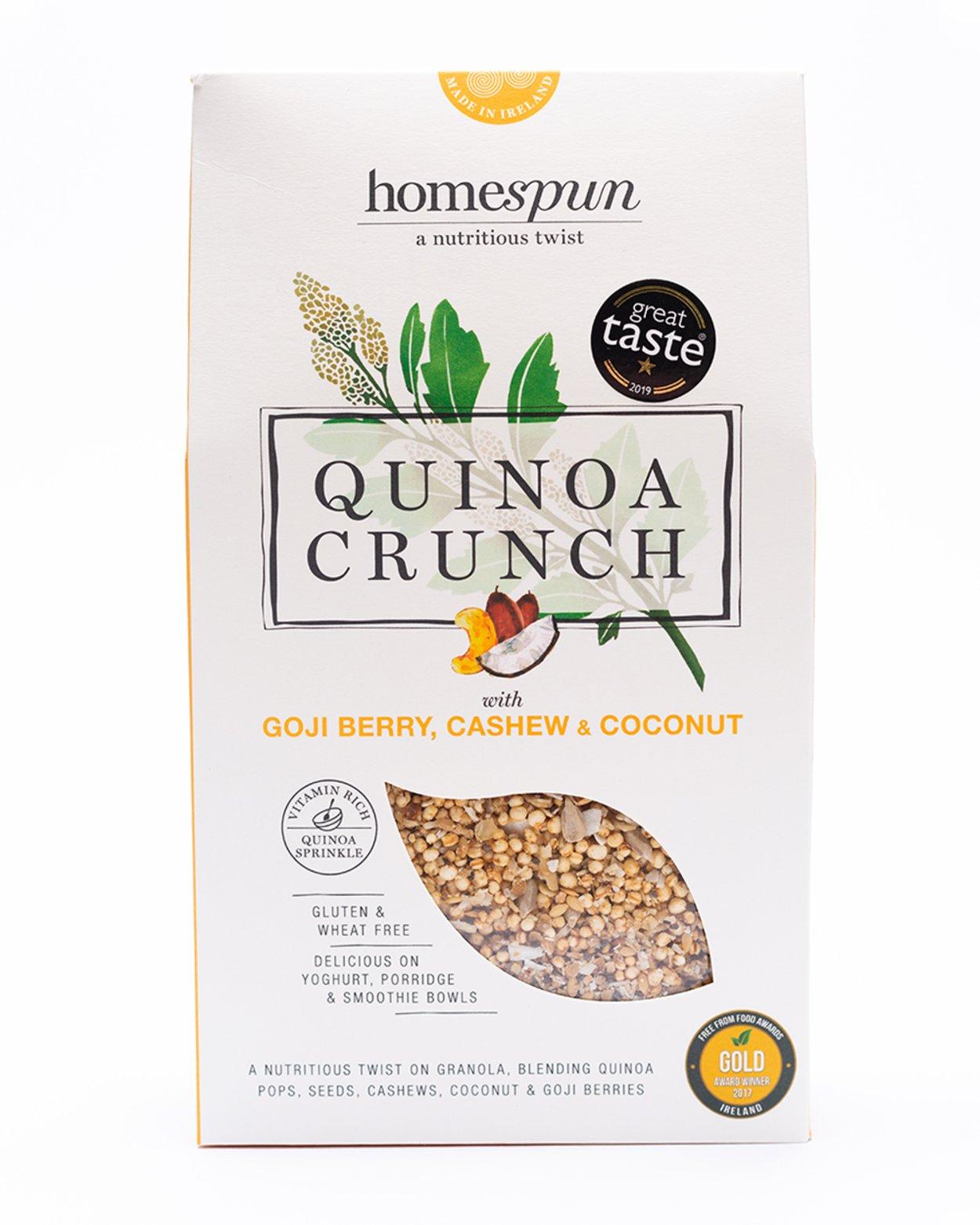 Homespun Goji Berry Quinoa Crunch