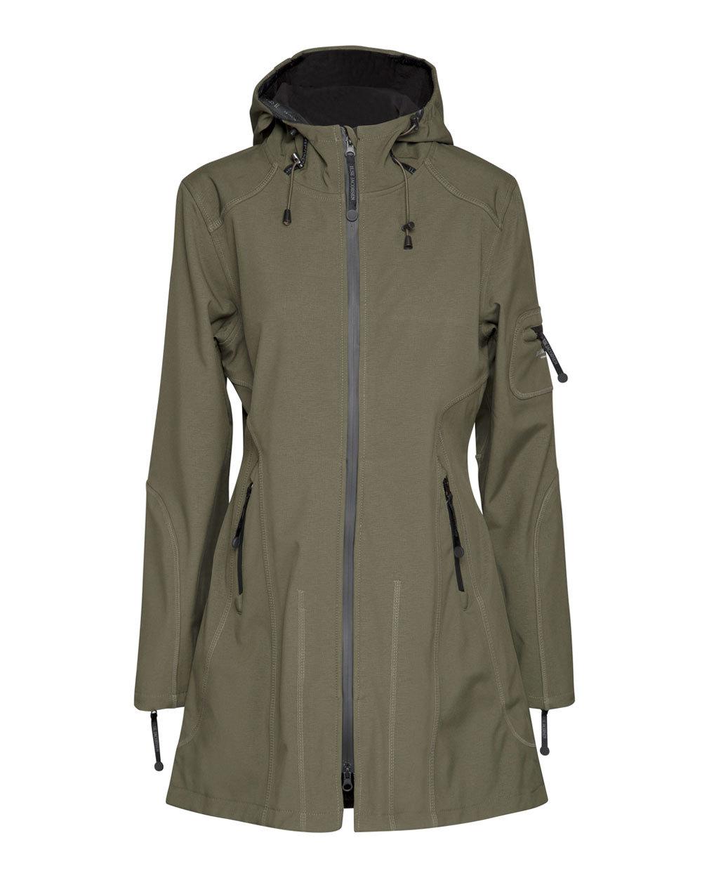 Ilse Jacobsen Raincoat in Army Black
