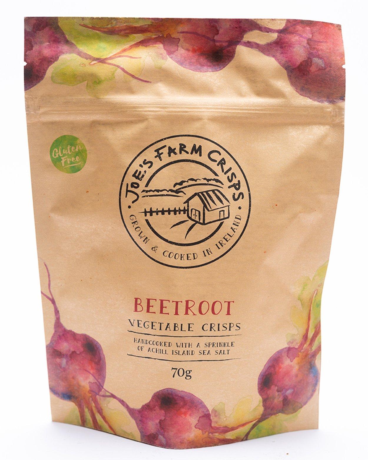 Joe's Farm Crisps Gluten Free Beetroot Vegetable Crisps