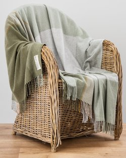 July Bug Cashmere Blend Throw in Green