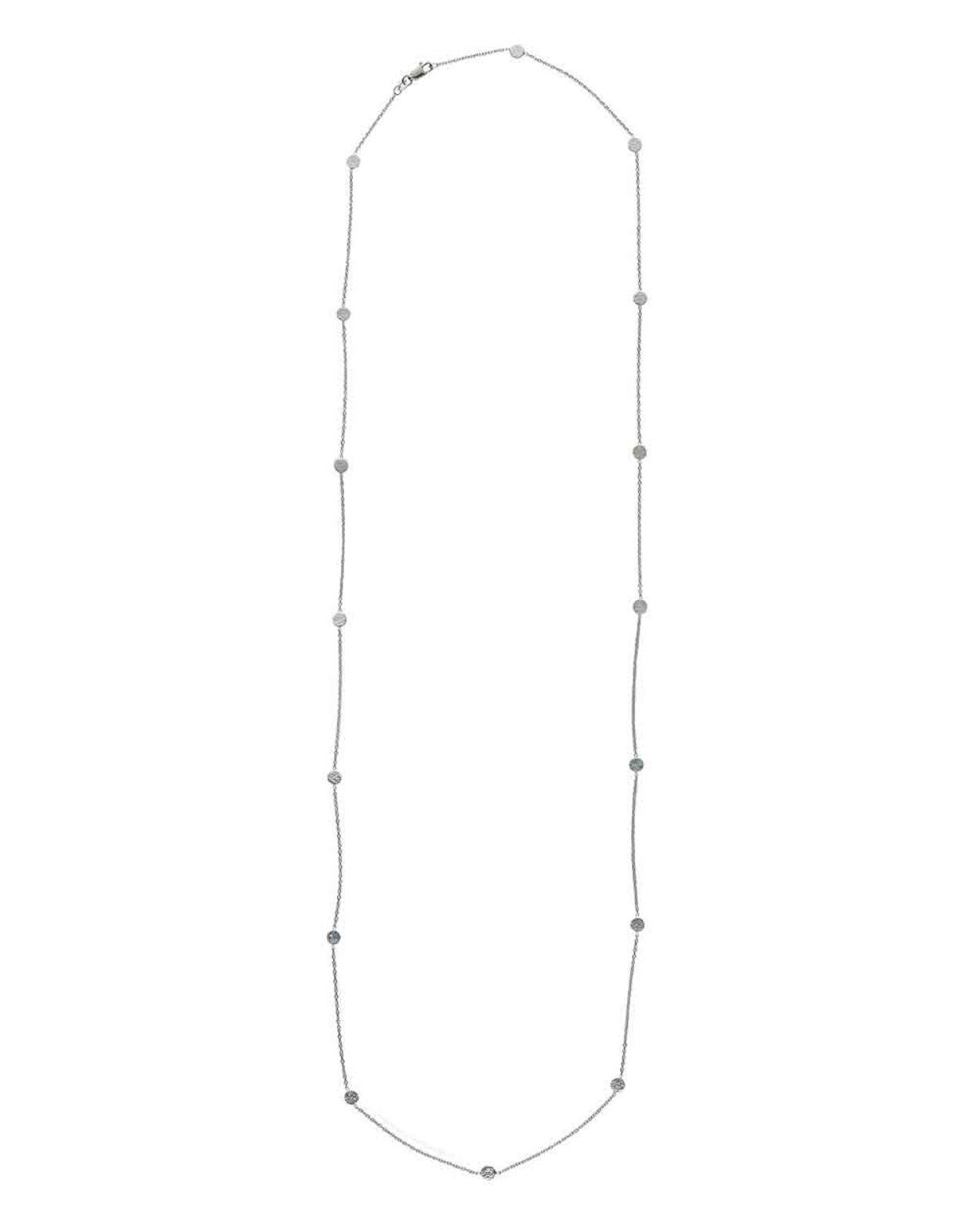 Long Silver Luna Necklace