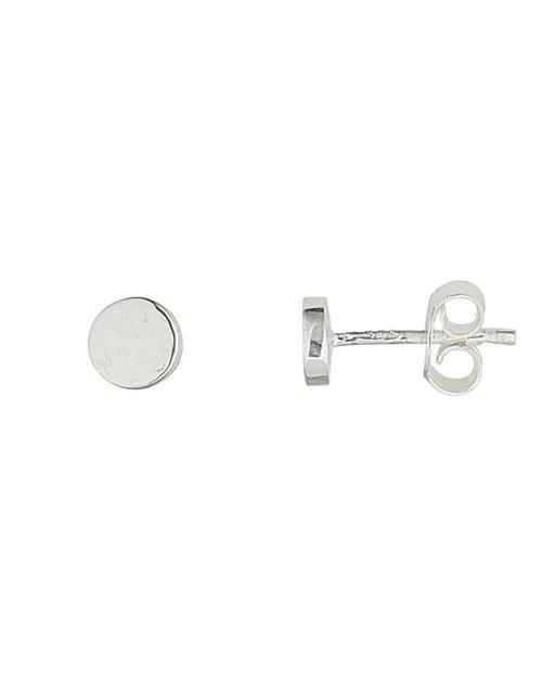 Silver Luna Stud Earrings