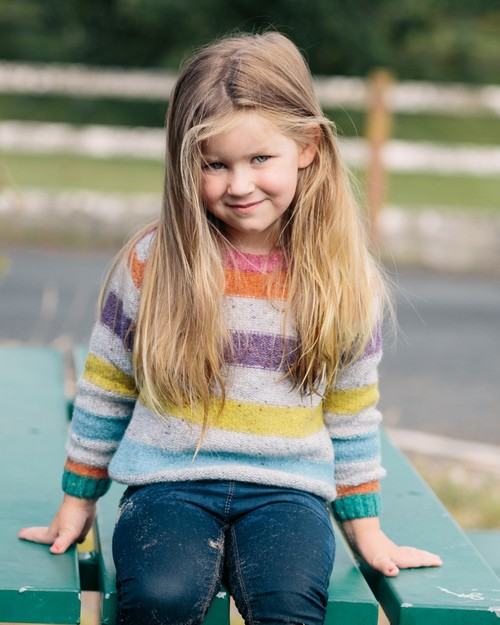 Chunky Knit Rainbow Jumper