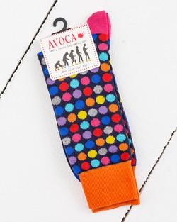 Multicoloured Polka Dot Socks