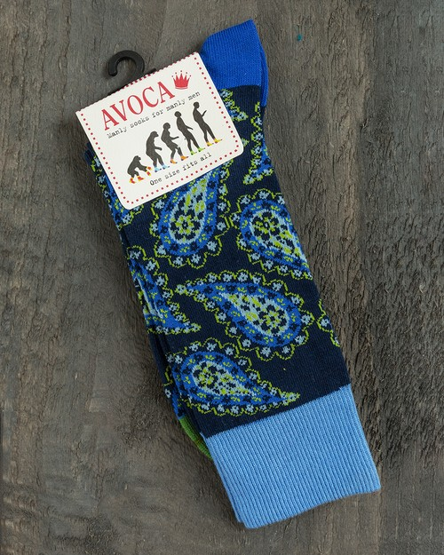 Paisley Socks in Blue