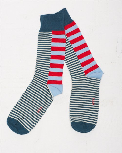 Contrast Stripe Socks