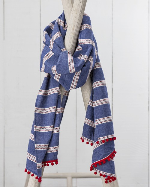 Trouillet Scarf in Boating Stripe