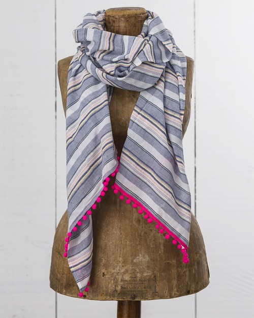 Trouillet Scarf in Neon Sparkle