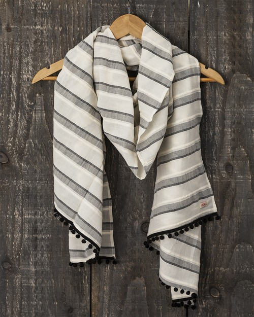 Trouillet Scarf in Sparkle Stripe