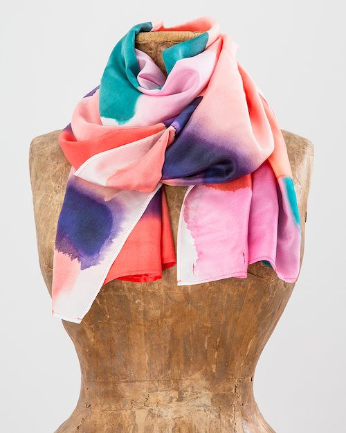 Colour Palette Silk Scarf