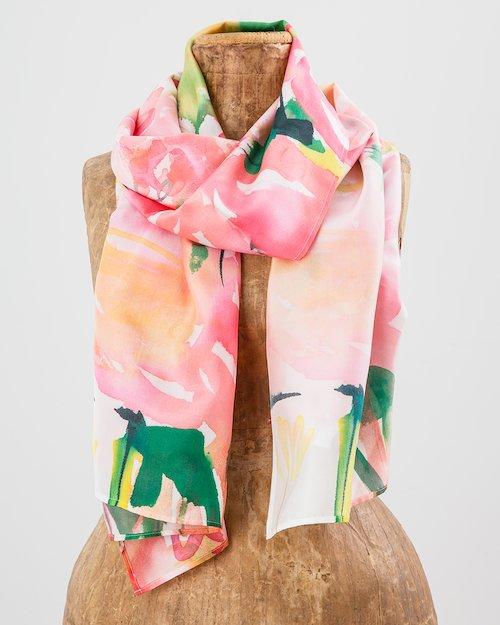 Garden Party Silk Scarf