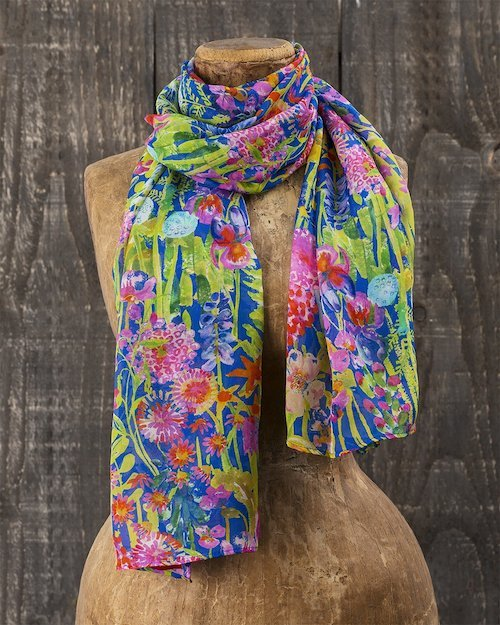 Liberty Print Chiffon Scarf in Hampton Wedding