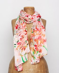 Spring Blossom Silk Scarf