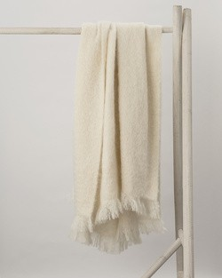 M11 Cream Mohair Throw