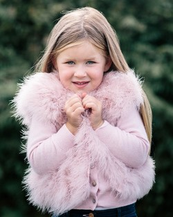 Angel Face Blush Pink Feather Gilet