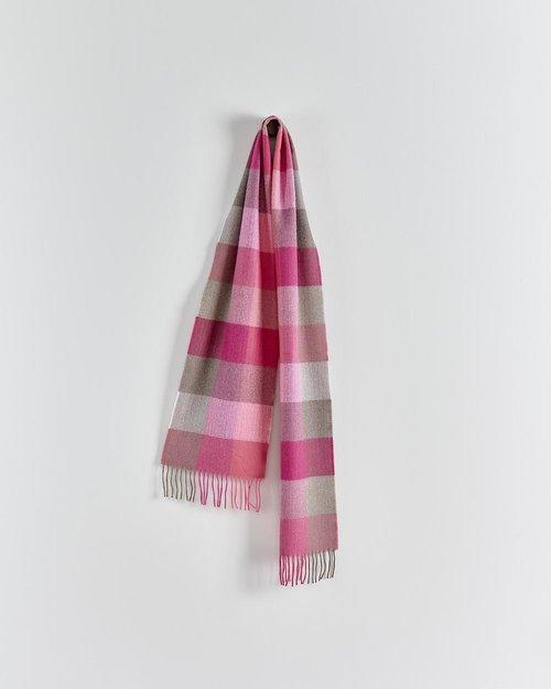 Pink Fields Merino Scarf