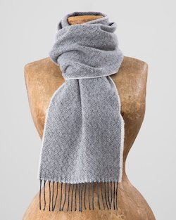 Wonky Merino Scarf in Grey