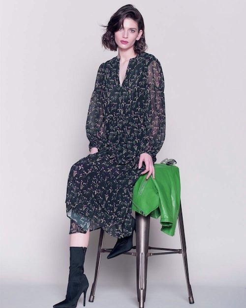 Flower Print Midi Dress
