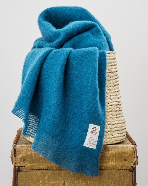 Blue Jade Mohair Throw
