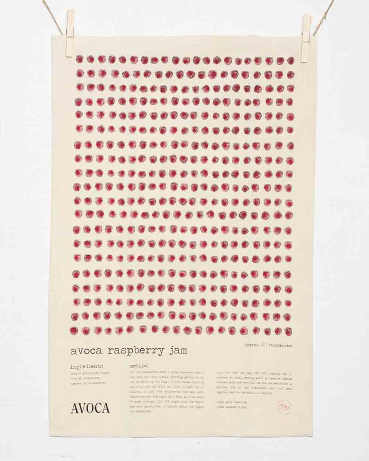 Avoca Raspberry Jam Tea Towel