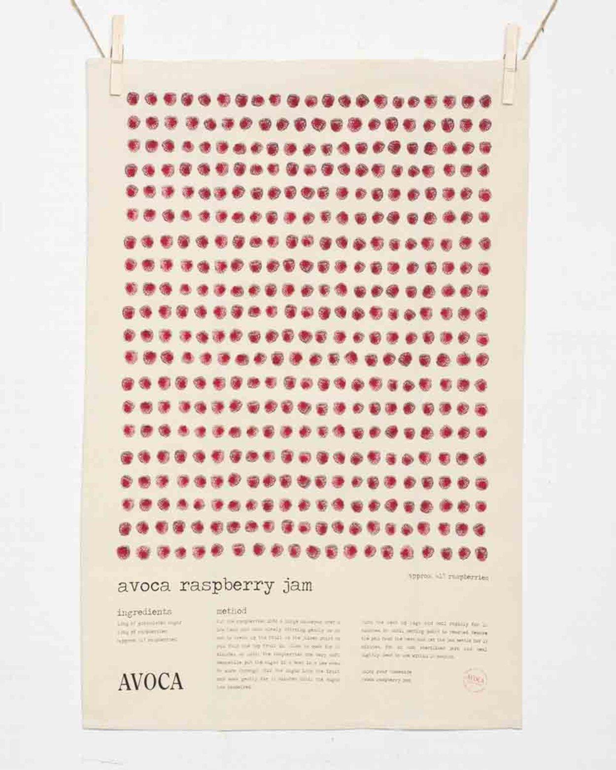 Avoca Raspberry Jam Tea Towel