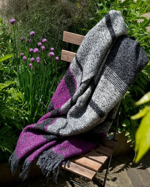 Purple and Grey Moyard Throw