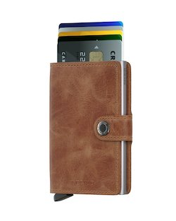 Secrid Wallet and Card Protector in Vintage Cognac Rust