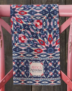 Navy Inkblot Tea Towel