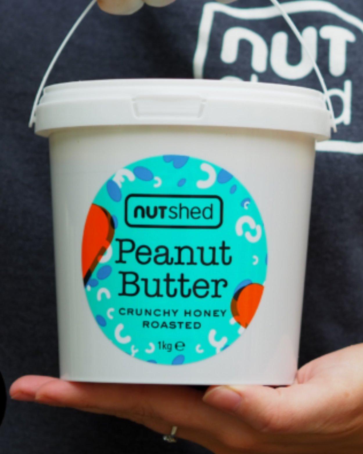 Nutshed Honey Roasted Crunchy Peanut Butter Bucket