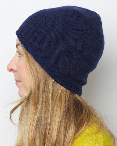 Cashmere Blend Top Stripe Hat