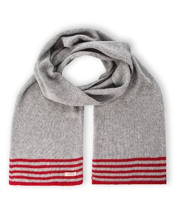 Park Life Scarf in Red & Grey