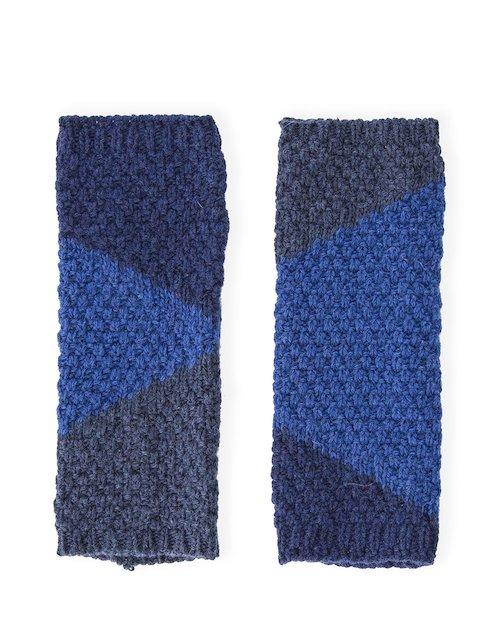 Diamonds Cuff Glove in Blue