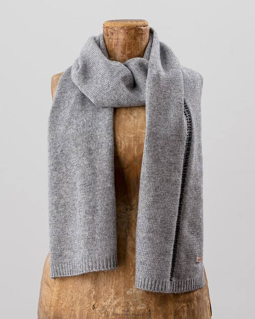 Blanket Stitch Scarf in Grey