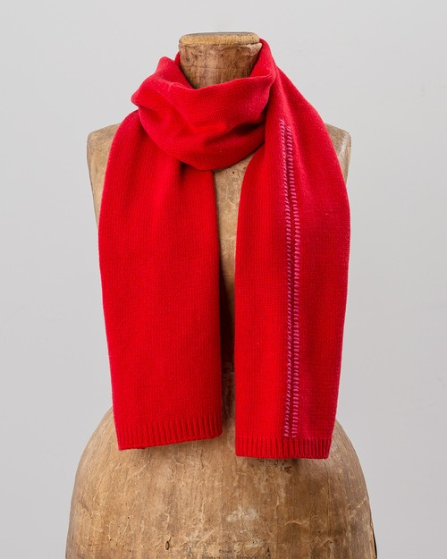 Blanket Stitch Scarf in Red