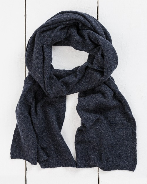 Yak Wool Scarf in Navy