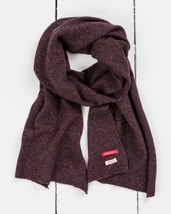 Yak Wool Scarf in Wine Marl