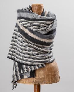 Cashmere Blend Striped Scarf