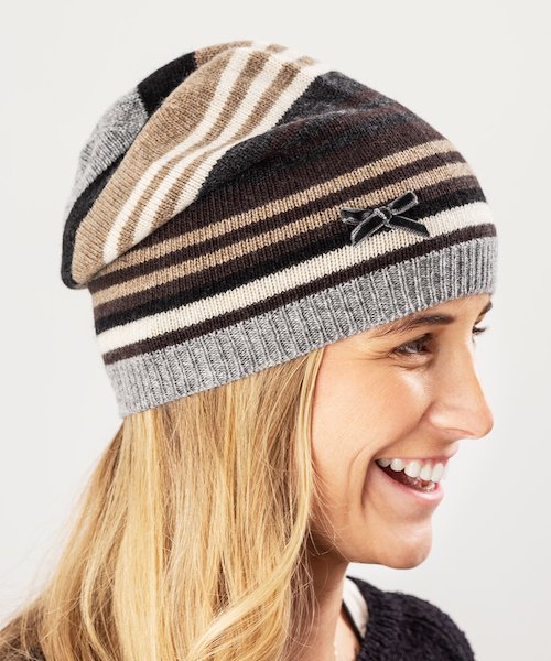 Ruby Striped Beanie
