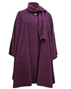 Cashmere Blend Berry Cape in Purple