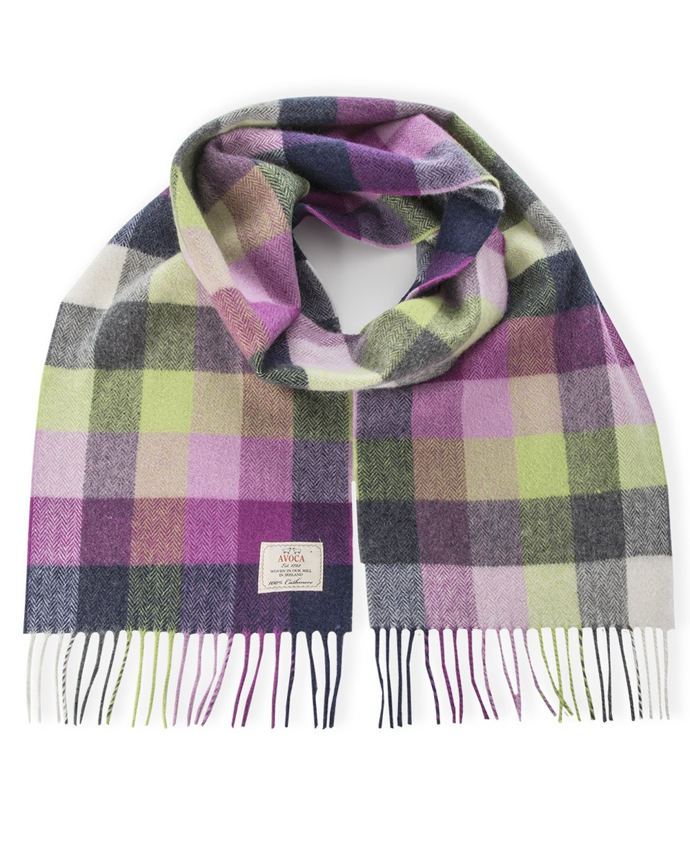 100% Cashmere Scarf in Pioneer