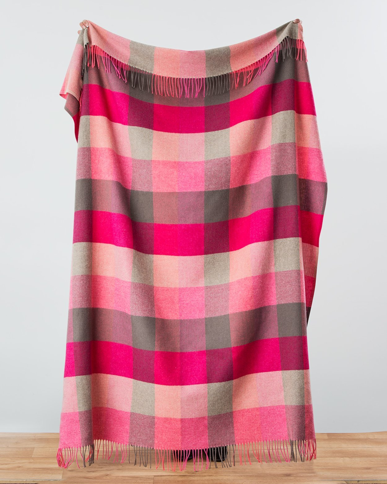 Pink Fields Lambswool Throw