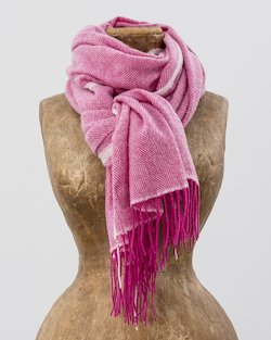 Sandymount Scarf in Pink and White