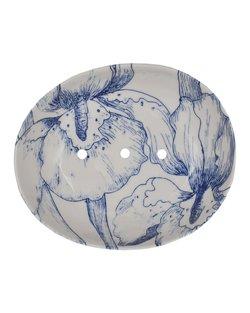 Soap Dish - Blue Floral
