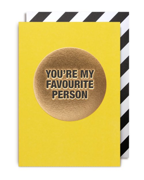 Favourite Person Card