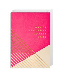 Happy Birthday Lovely Lady Card