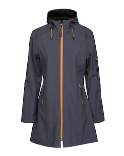 Ilse Jacobsen Raincoat in India Ink Black